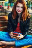 Charming girl teen — Stockfoto
