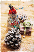 Christmas accessories in vintage style — Foto de Stock