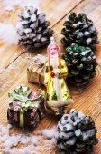 Glass Christmas toy — Stock Photo