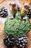 Skleněné vánoční hračky — Stock fotografie