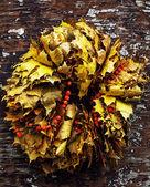 Dry autumn wreath — Stock Photo