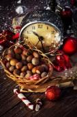 Adornos de navidad rojo — Foto de Stock