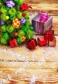 Postcard with Christmas — Stock Photo