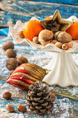 Nuts and toys — Stock Photo