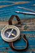 Staromódní kompas — Stock fotografie