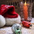 Christmas bell and candle — Stock Photo #60831601