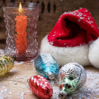 Christmas bell and candle — Stock Photo #60831647