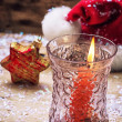 Christmas bell and candle — Stock Photo #60831845