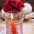 Christmas bell and candle — Stock Photo #60833145