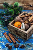 Box of treats for the Christmas table — Foto Stock