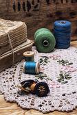 Sewing threads — Stock fotografie