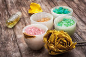 Sea aromatic salt for spa treatments — Stockfoto