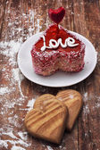 Dessert for the holiday Valentine's day — Stock Photo