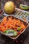 Cooking fruit salad — Zdjęcie stockowe