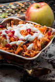 Cooking fruit salad — Stock Photo