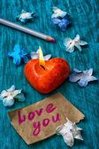 Symbolické valentinky den — Stock fotografie