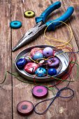 Crafts with beads — Photo