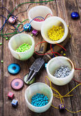 Crafts with beads — Foto Stock