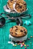 Dessert shortcake with ice cream — Stockfoto