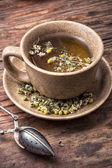 Healing with chamomile broth — Stock Photo