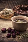 Tea on medicinal herbs — Stock Photo