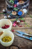 Set for needlework beaded — Stock Photo