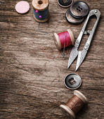 Outdated tools dressmaker — Stock Photo