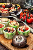 Stuffed zucchini — Stock Photo