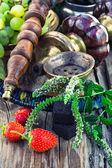 Vattenpipa med frukt smak — Stockfoto