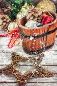 Dekorace pro zimní dovolenou — Stock fotografie
