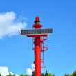 Small red solar lighthouse — Stock Photo #56276215