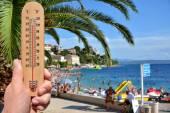 Extreme hot summer warning — Stock Photo