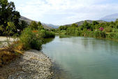 Looking upriver from Agia Galini — Stock Photo