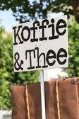 Coffee and tea sign — Stock Photo