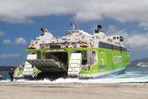 Docking on Santorini — Stock Photo