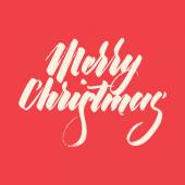 Light Abstract Merry Christmas Lettering — Vector de stock