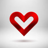 Red abstract Valentine's heart sign — Vettoriale Stock