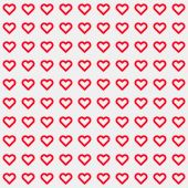 Valentine's heart signs pattern — Stock Vector