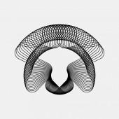 Black Abstract Fractal Shape — Stock Vector