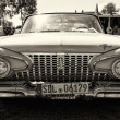 Постер, плакат: PAAREN IM GLIEN GERMANY MAY 19: Full size car Plymouth Fury 1961 sepia The oldtimer show in MAFZ May 19 2013 in Paaren im Glien Germany
