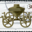 Postage stamp printed in Germany, shows the Archaeological Treasures: Bronze ritual chariot c. 1000 B.C. — Stock Photo #52153577