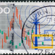 Postage stamp printed in Germany, dedicated to the International radio exhibition Berlin, shows the symbol of the exhibition, radio tower, television — Stock Photo #52153893