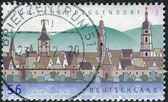 Postage stamp printed in Germany, shows the Town of Deggendorf — Stock Photo