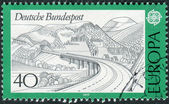 Postage stamp printed in Germany, shows a Rhoen highway — Stock Photo