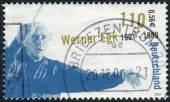 Postage stamp printed in Germany, shows the composer Werner Egk — Stock Photo