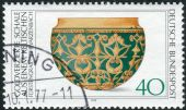 Postage stamp printed in Germany, shows the Archaeological Treasures: Celtic gold vessel, 5th-4th centuries BC — Stock Photo