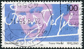 Postage stamp printed in Germany, dedicated to the writer, Franz Werfel — Stockfoto