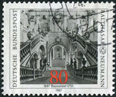 Postage stamp printed in Germany, dedicated to the 300th anniversary of the architect Balthasar Neumann, depicts Archbishop's Residence at Wurzburg — Stock Photo