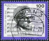 Postage stamp printed in Germany, shows a German organist, choral conductor, teacher and composer, Hugo Distler — Stock Photo