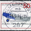 Postage stamp printed in Germany, dedicated to the 50th anniversary of Lufthansa, shows a first all-metal transport aircraft Junkers F.13 — Stock Photo #53066157